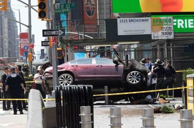 Car rams pedestrians in Times Square. Car rams Times Square pedestrians, kills one, injures others A speeding car crashed into pedestrians on a sidewalk in New  Car rams pedestrians in Times Square kills one injures others A speeding car crashed into on a sidewalk New