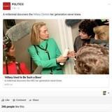 Millennial discovers Hillary Clinton