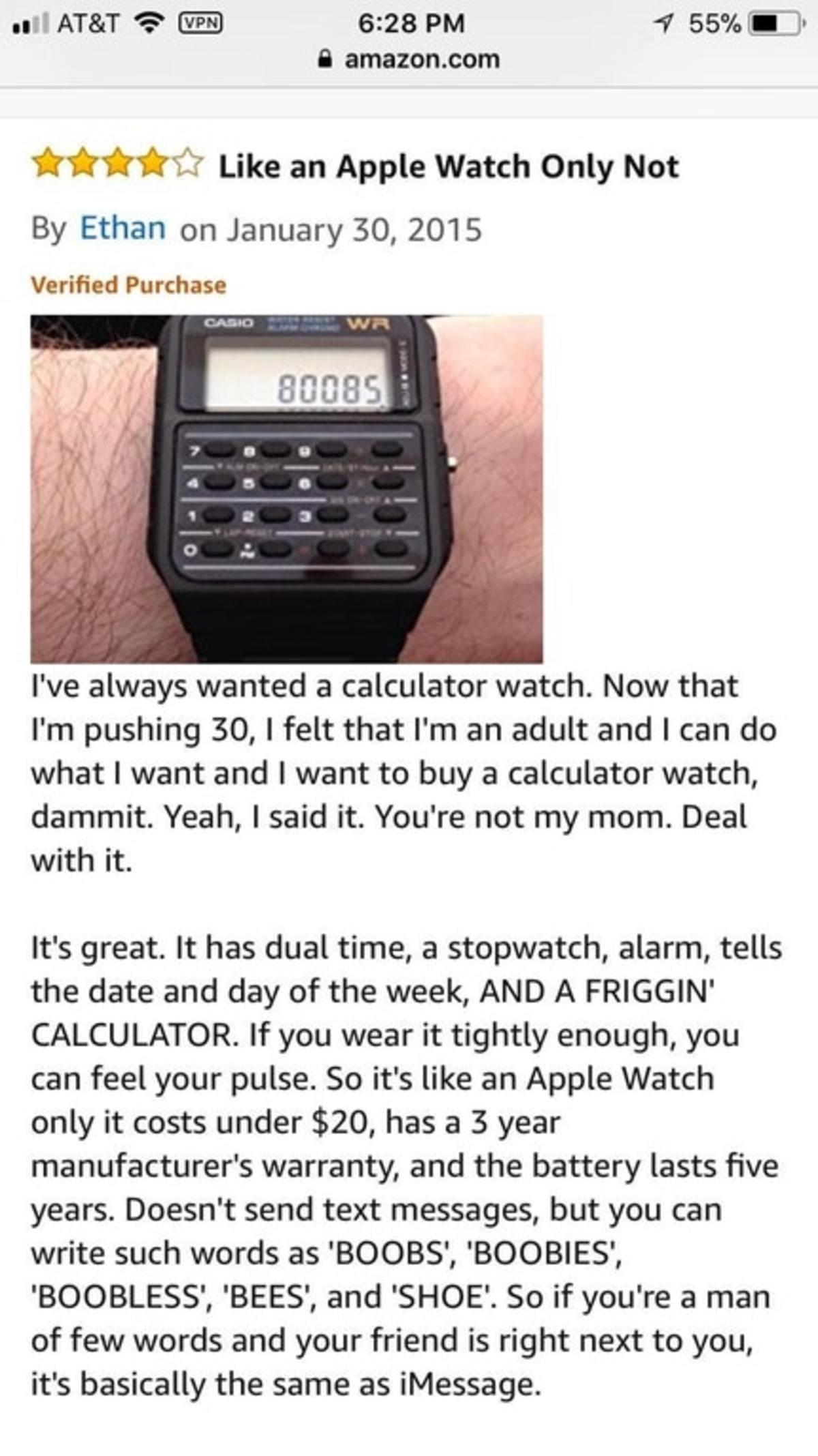 Calculator watch. .. A man of few, very specific words. Calculator watch A man of few very specific words