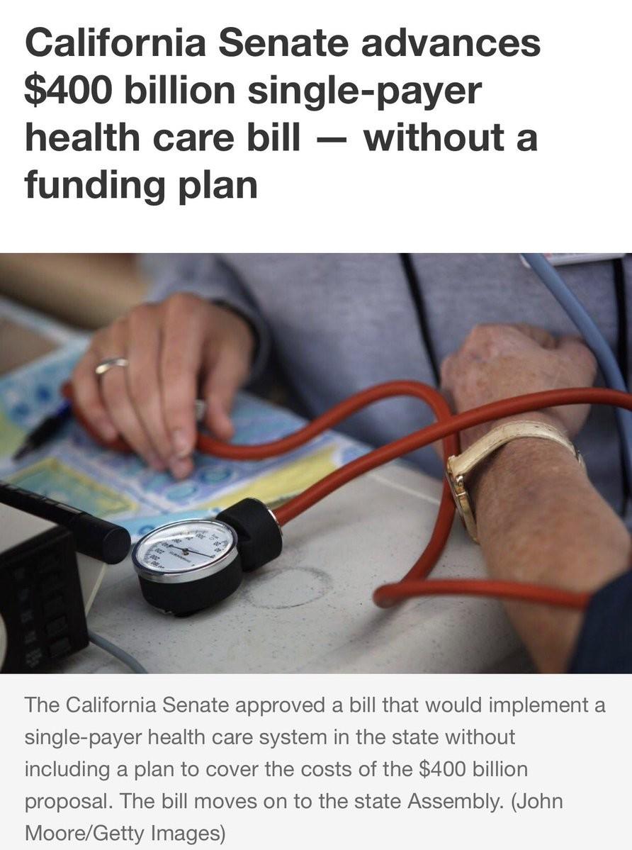 California moves forward with single-payer healthcare. www.theblaze.com/news/2017/06/02/cali... join list: PoliticsAndNews (156 subs)Mention History. billion )  California moves forward with single-payer healthcare www theblaze com/news/2017/06/02/cali join list: PoliticsAndNews (156 subs)Mention History billion )