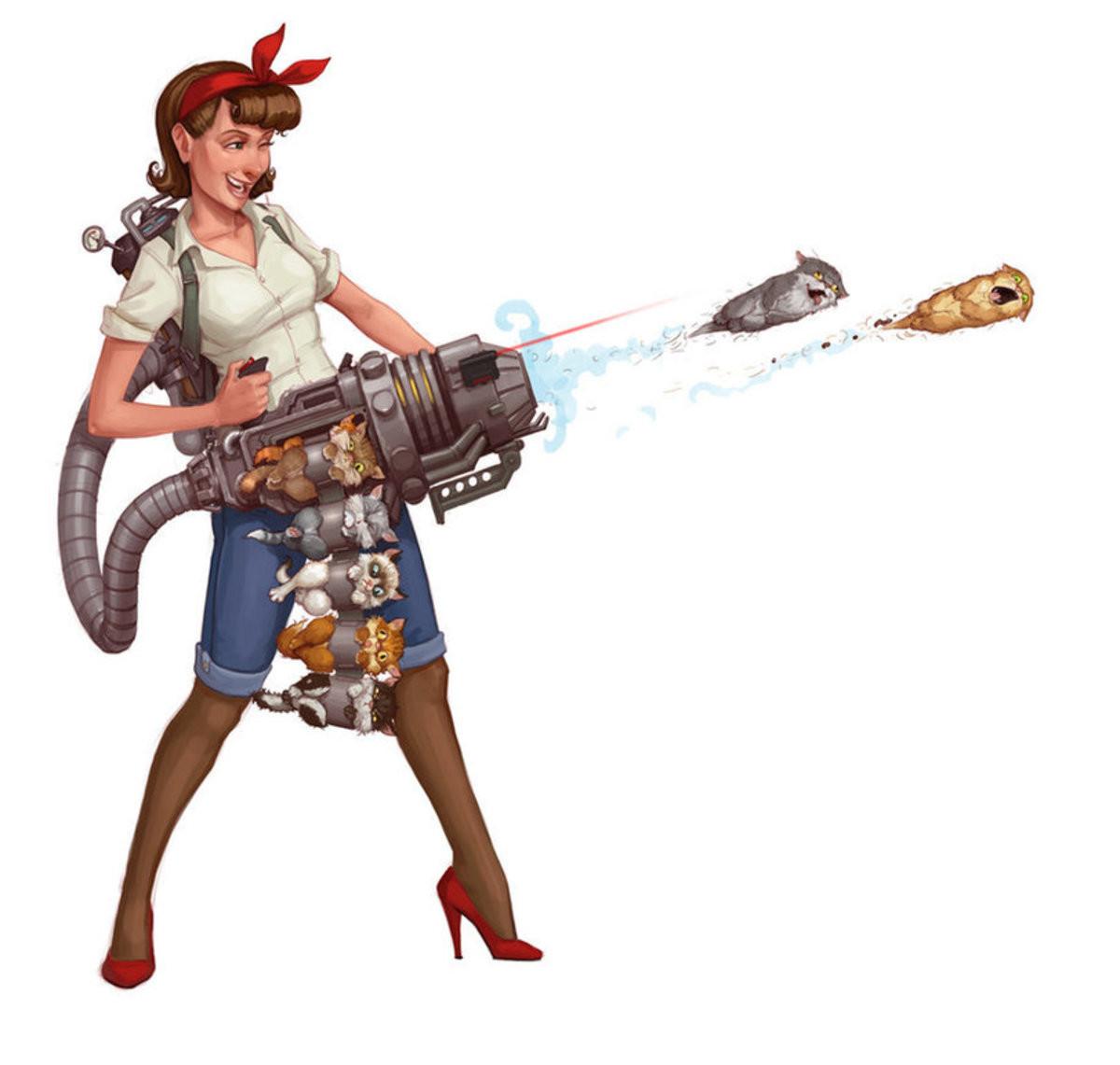 Cat-ling gun. .. Postal did it better Cat-ling gun Postal did it better