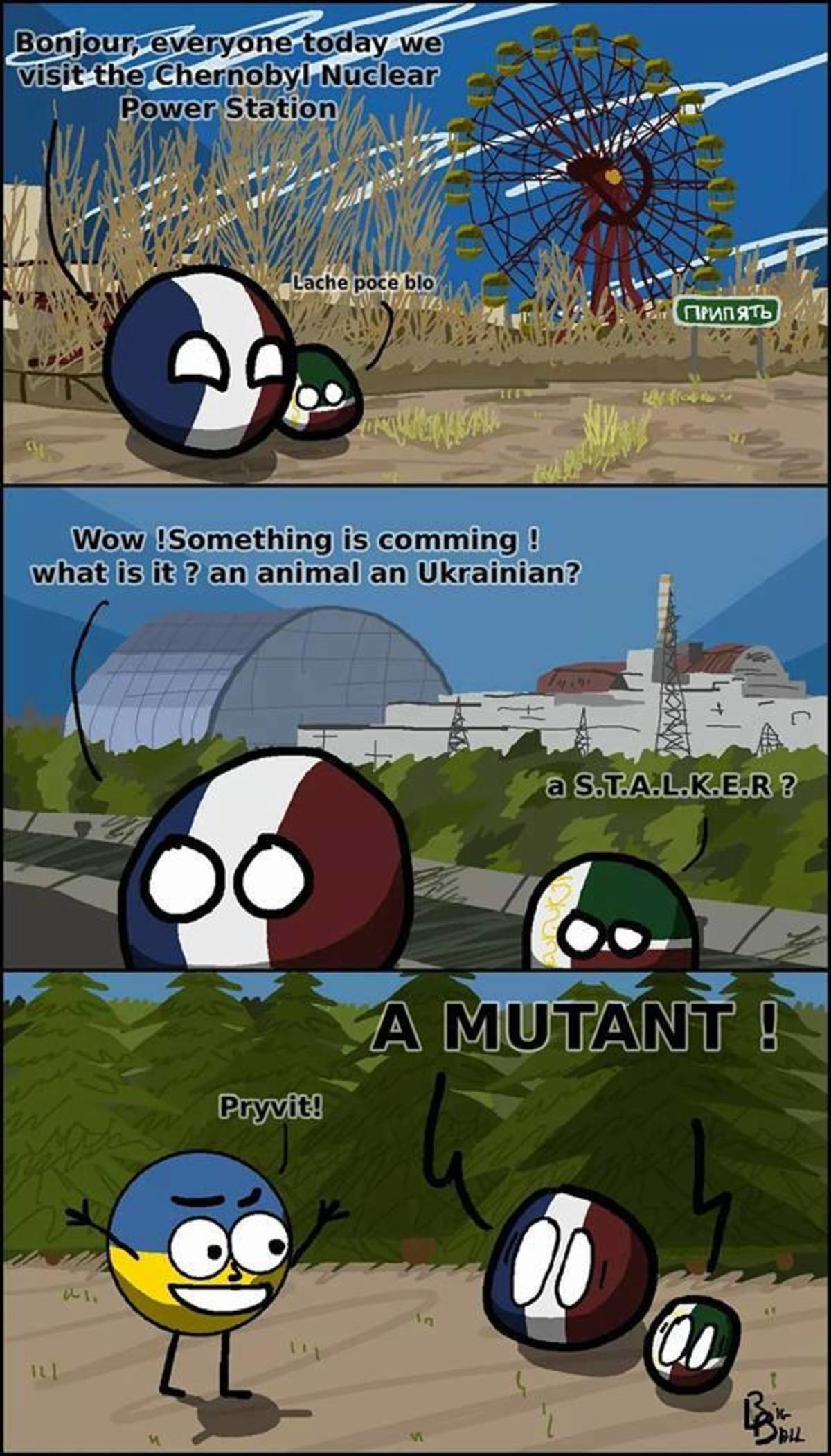 Chernobyl. . Polandball belarus byelorussia france ukraine chernobyl Mutant
