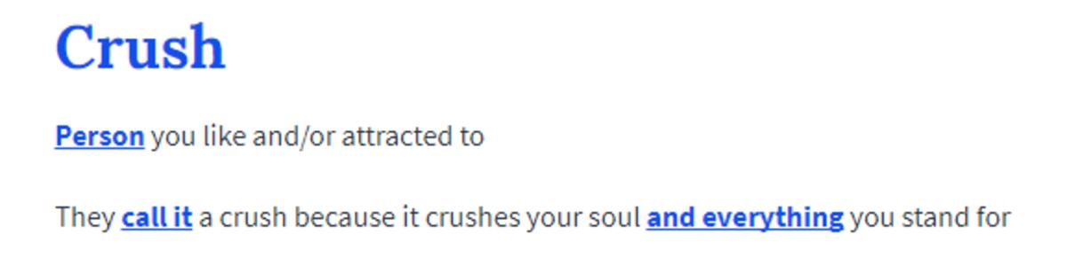 Crushes. . Crushes