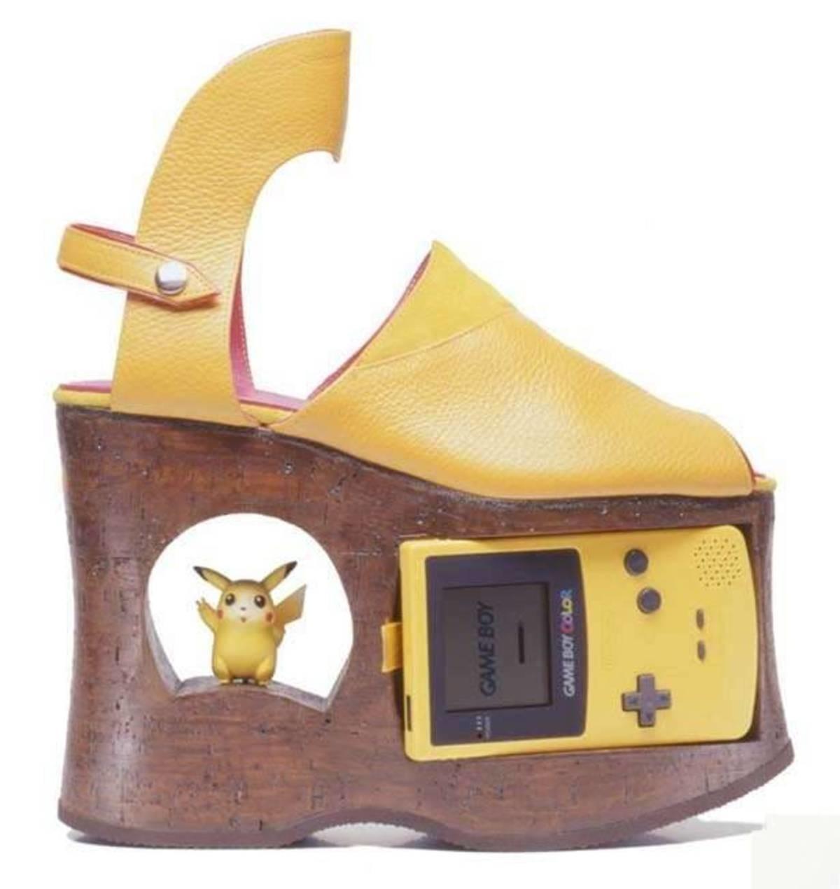 Gameboy Color Platform Shoes. .. Disgusting. Gameboy Color Platform Shoes Disgusting