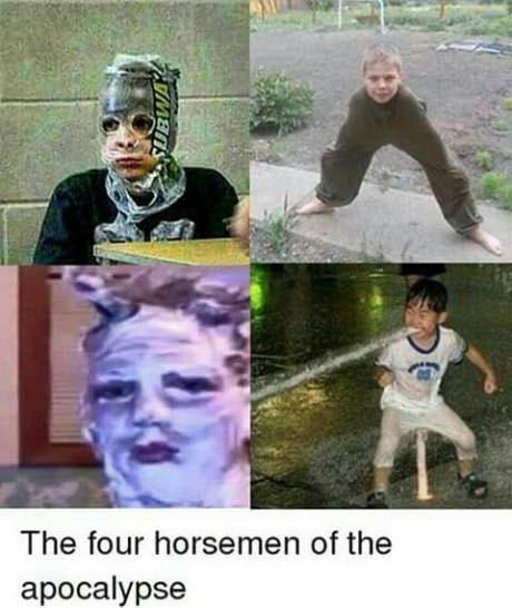 kids. . The four horsemen of the apocalypse kids The four horsemen of the apocalypse