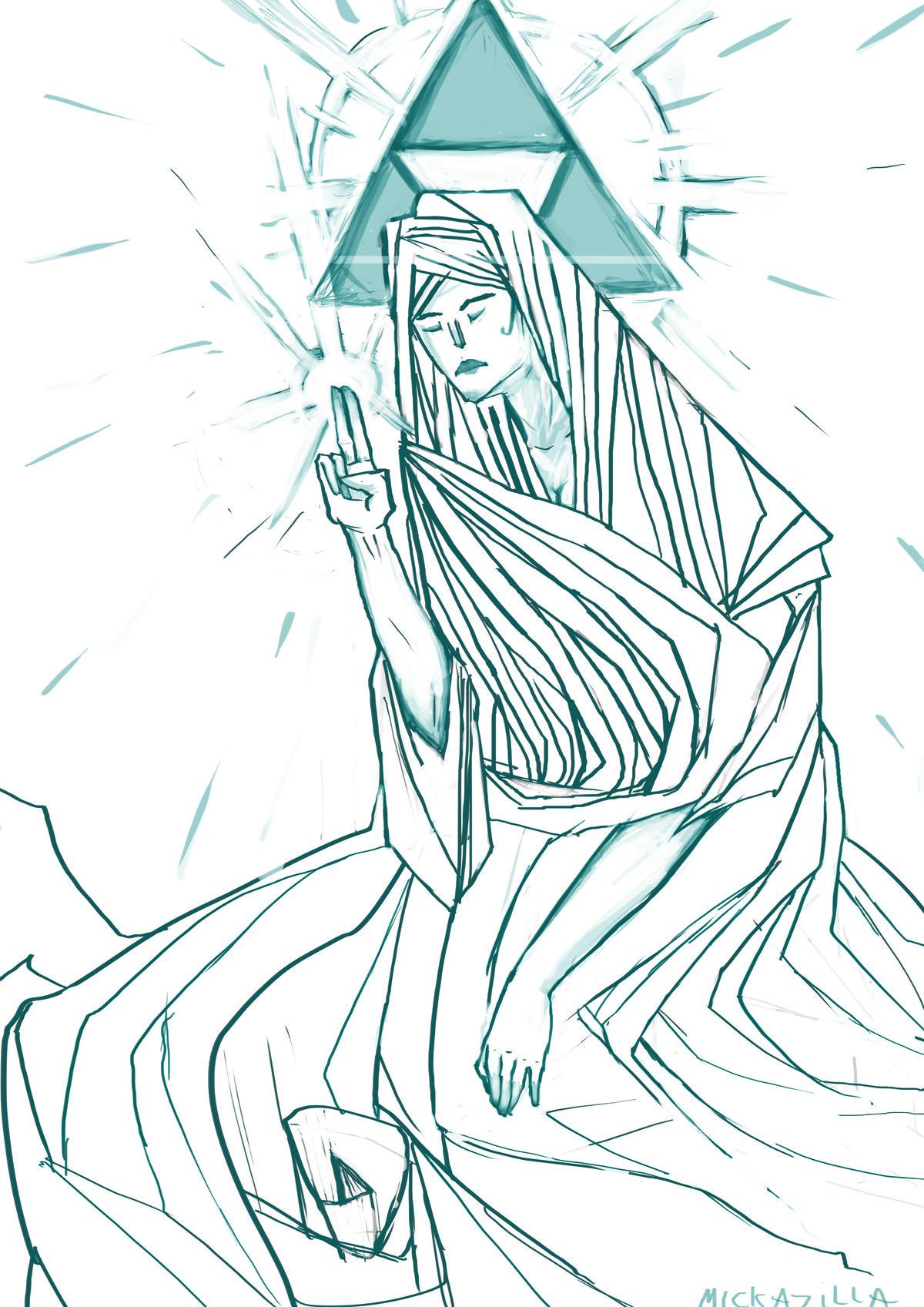 OC Godess Hylia. It's a little draft I made. Zelda