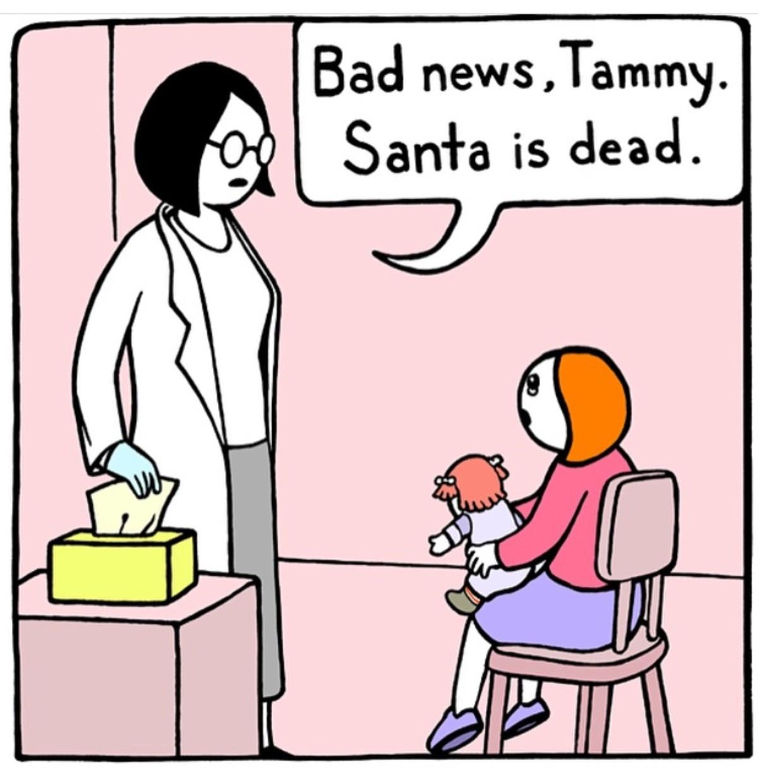 santa. .. <when they show their boss santa <when they show their boss