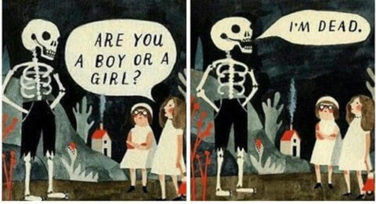 Spooky is genderless. .. I'm DEAD mate spooky iron bone