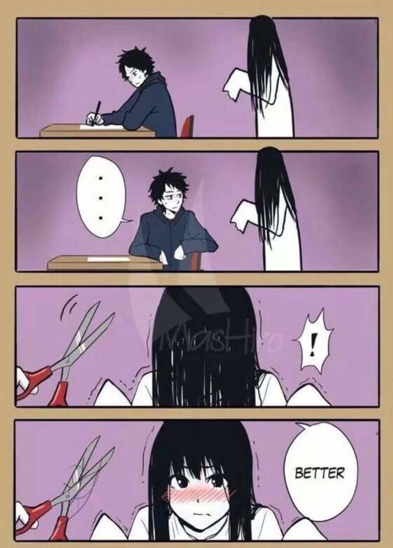 Spooky. .. Time to the demon manga Sadako Scary Cute grudge