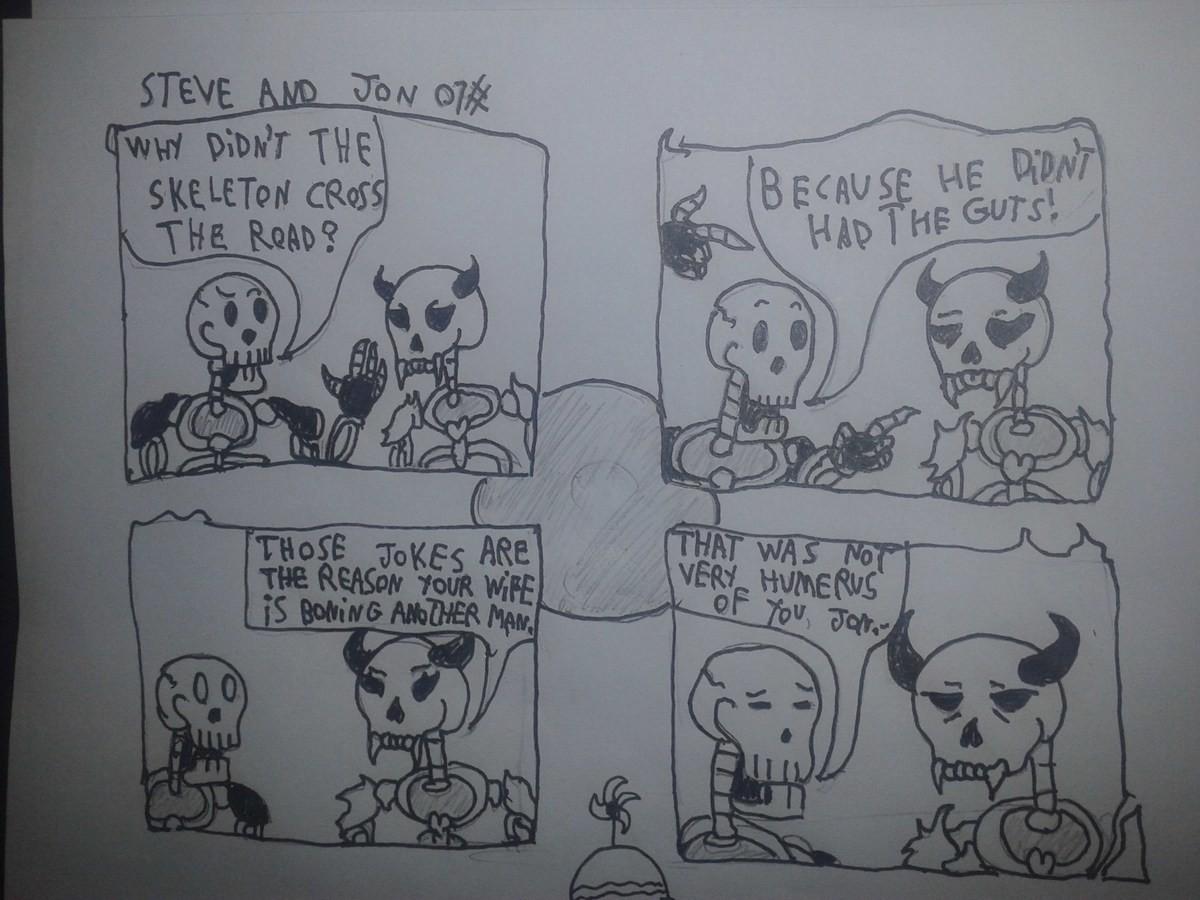 Steve and Jon: Hellgate guards #01. . pun bad joke im
