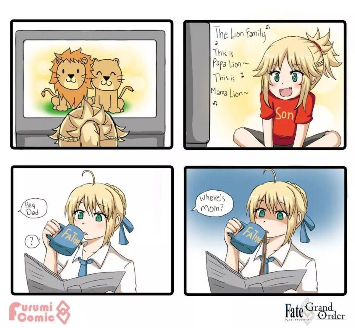 Where IS Mom Seibaexplains?.  .. join list: IFoundCuteMention History Anime manga artoria mordred Cute tomboy dad