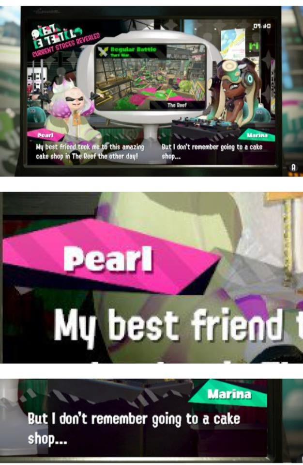 WTF PEARL.   PEARL DESERVES ALL THE BULLI CAUSE SHE Videogames splatoon sad best friend pearl Marina Mean