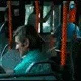 Burt Reynolds on the bus